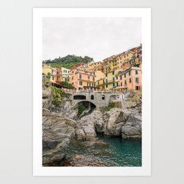 Colorful houses Cinque Terre | Manarola, Italy (Europe) | Colorful Travel Photography Art Print