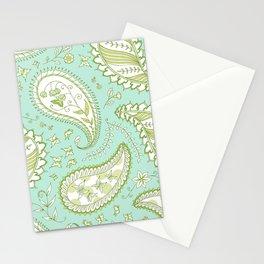 Pretty Paisley - Aqua/Green Stationery Cards