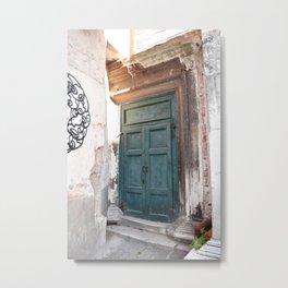 Door Metal Print