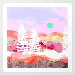 Ibiza Abstract Landscape Art Print