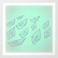boats Art Prints featuring 'Boats' by Mr and Mrs Quirynen