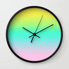Trendy Bright Candy Gradient Wall Clock