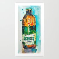 ale giorgini Art Prints featuring Genesee Cream Ale by Dorrie Rifkin Watercolors