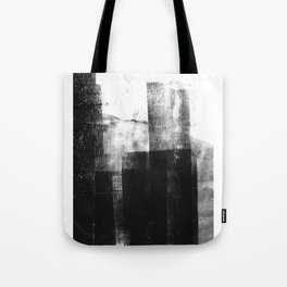 Black White Grey Abstract Monotype Tote Bag