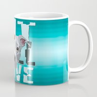 pit bull Mugs featuring Pit Bull by Benjamin Ring
