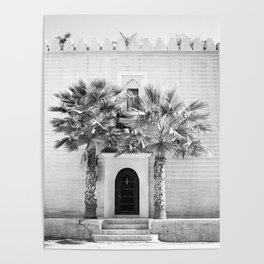 """Travel photography print """"Magical Marrakech"""" photo art made in Morocco. Black and white. Poster"""