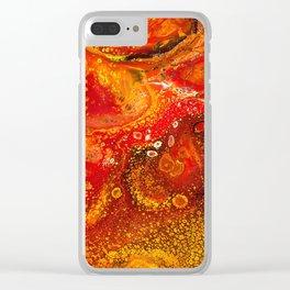 Lava Flow Clear iPhone Case