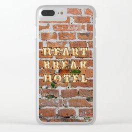 Heart Break Hotel - Brick Clear iPhone Case