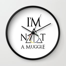 I'm not a muggle Wall Clock