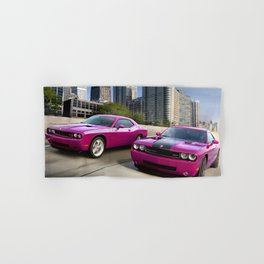 Limited Edition Fuchsia Panther Pink Challenger RT Classic Variation Models Hand & Bath Towel
