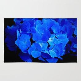 Deep Blue Hydrangea Rug
