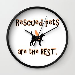 Rescued Pets are the Best Wall Clock