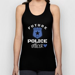 Future police department 911 police officer police t-shirts Unisex Tank Top