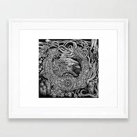 prometheus Framed Art Prints featuring Prometheus by Walid Aziz
