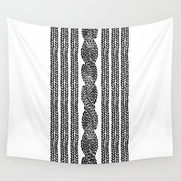 Cable Stripe White Wall Tapestry