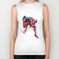 spider man Biker Tanks featuring Spider Man! by BunBun Supreme