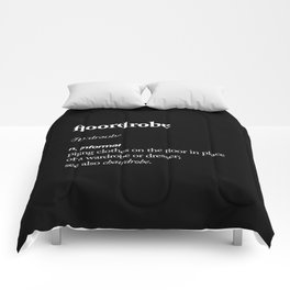 Floordrobe black and white typography poster gift for her girlfriend home wall decor bedroom Comforters