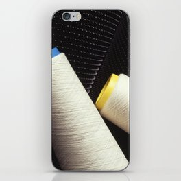 Cotton Yarn Coil  iPhone Skin
