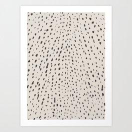 Silver Fawn Spots Art Print