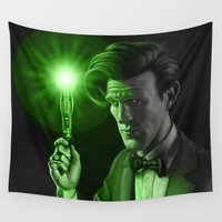 doctor who Wall Tapestries featuring Doctor Who by Tony Calabro Illustration