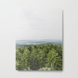 Layers Of Green Pine Trees Rolling Hills Metal Print