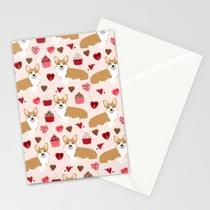 Corgi pet friendly welsh corgi dog person corgis love valentines day gifts for dog person Stationery Cards