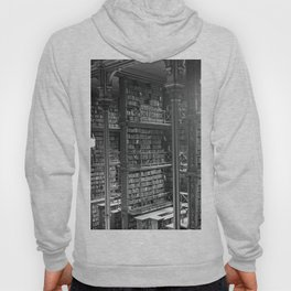 A Book Lover's Dream - Cast-iron Book Alcoves of Leather bound books Old Cincinnati Public Library Hoody
