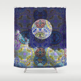 Hovering Moonscape Shower Curtain