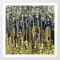 gatsby Art Prints featuring :: Gray Gatsby :: by :: GaleStorm Artworks ::