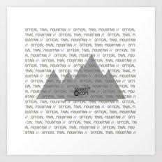 Official Trial Mountain Art Print