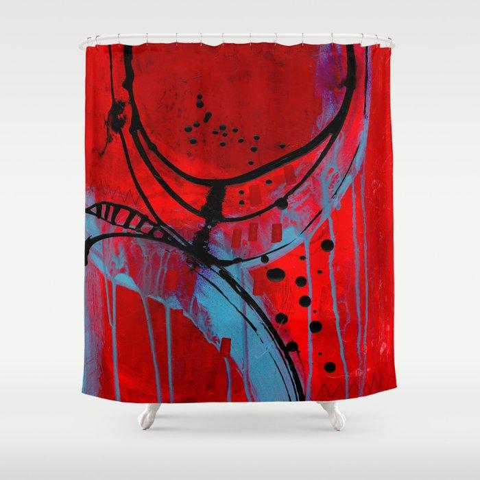 Mixed Emotons Shower Curtain