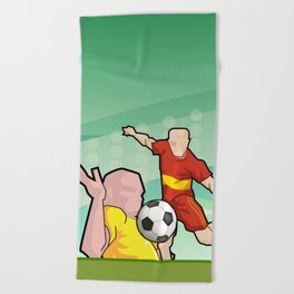 Soccer game Beach Towel