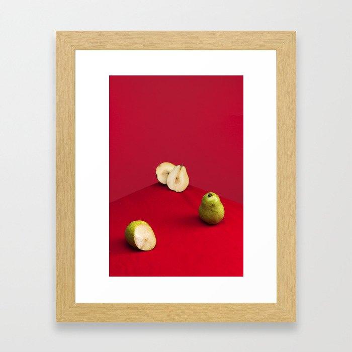 Damaged Pears Framed Art Print