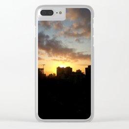 City Sunrise Clear iPhone Case