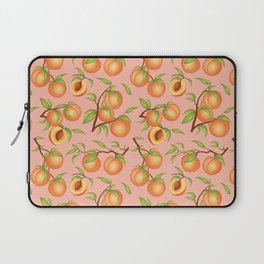 Practice What You Peach - Peaches on Pink Laptop Sleeve