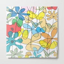 Flowerline Metal Print