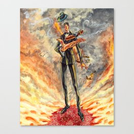 Tom Ford x Davidoff on Fire Canvas Print