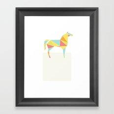 Origami Horse by Friztin Framed Art Print