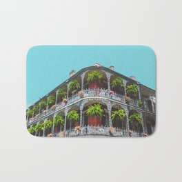Hanging Baskets of Royal Street, New Orleans Bath Mat