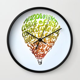 Happiness comes of... Wall Clock