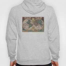 Vintage Map of The World (1740) Hoody