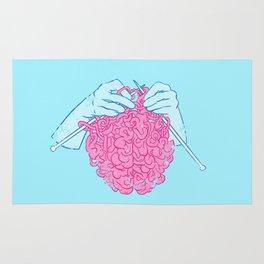 Knitting a brain Rug