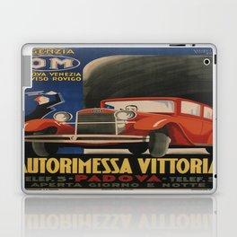 Vintage poster - Autorimessa Vittoria Laptop & iPad Skin