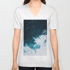 Wild ocean waves II Unisex V-Neck