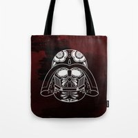darth vader Tote Bags featuring Darth Vader by vrdgrs