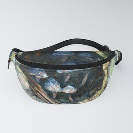 Mushrooms in Tree Hollow | Oil Impressionist Fanny Pack
