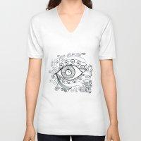 third eye V-neck T-shirts featuring third eye by yogivette