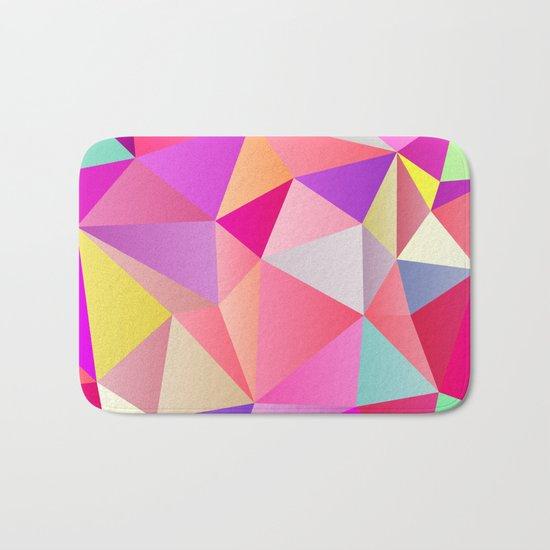 Pink Polygons Bath Mat