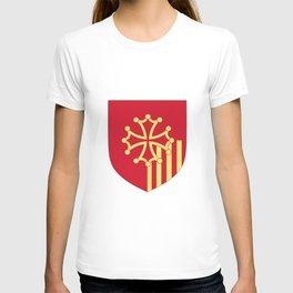 Languedoc-Roussillon symbol shield T-shirt