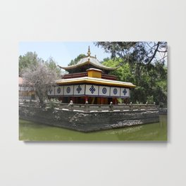 Pond at the Norbulingka Palace Metal Print